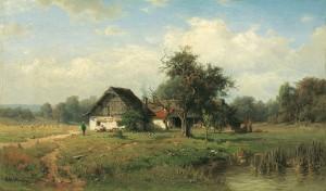 Bauernhaus am Teich Image