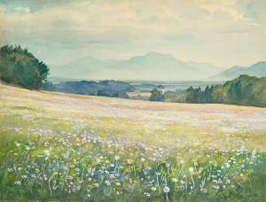 Blumenwiese auf der Ratzinger Höhe ⋅ um 1925 Image