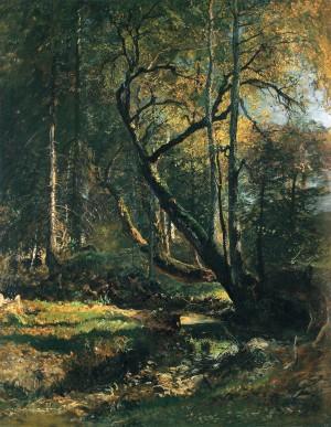 Alte Linden an einem Graben ⋅ 1885 Image