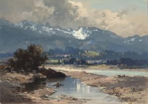 Die Isar bei Lenggries ⋅ um 1920 Image