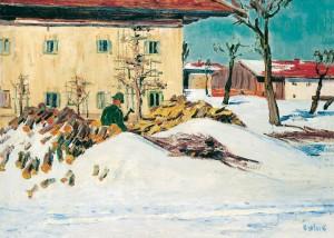 Winter im Dorf (Feldwies) ⋅ 1940 Image