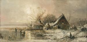 Eisvergnügen bei Abendsonne ⋅ um 1880 Image