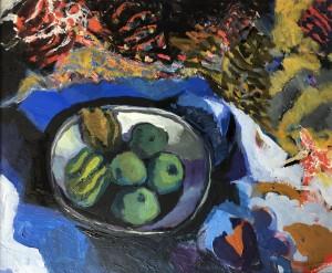 Zinnteller mit Früchten ⋅ 1990 Image