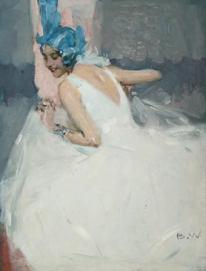 Tänzerin im weißen Kleid ⋅ um 1935 Image