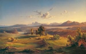 Heuernte am Chiemsee ⋅ 1845 Image