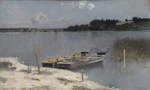 Chiemseeplätte am Ufer ⋅ 1894 Image