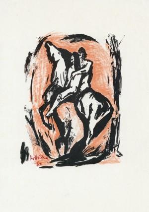 Liebespaar auf Pferd ⋅ 1960 Image