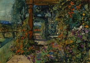 Im Garten von Harras, Blick gegen Urschalling ⋅ um 1934 Image