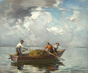 Überfahrt am Chiemsee ⋅ um 1915 Image