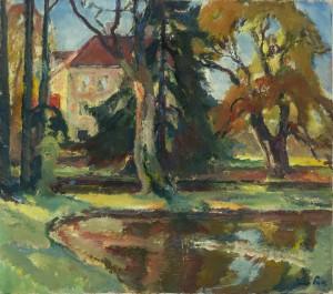 Park im Schloss Fußberg in Gauting ⋅ 1928 Image
