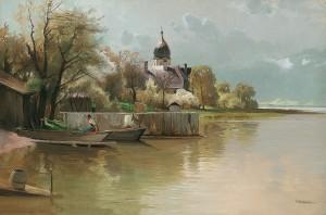 Frühling auf der Fraueninsel ⋅ um 1910 Image