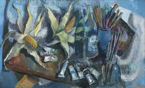 Atelierstillleben mit Mais ⋅ 1965 Image