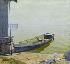 Boot am Gstadt Ufer ⋅ 1928 Image