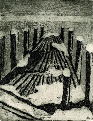 Steg im Winter ⋅ 1985 Image