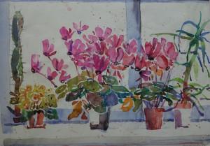 Blumen am Fenster ⋅ 1994 Image