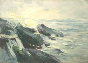 Am Strand von Swinemünde ⋅ 1907 Image
