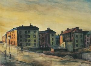 München - Vorstadthäuser am Abend ⋅ um 1923 Image
