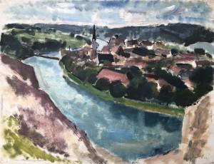 Wasserburg am Inn - Blick von der Innleite aus ⋅ 1925 Image