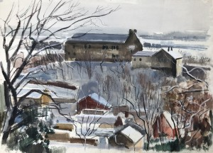 Verschneite Vorfrühlingslandschaft Image