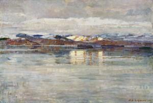 Winterstimmung am Zürichsee ⋅ 1923 Image