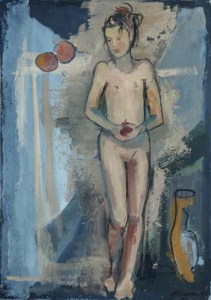 Mädchen mit Apfel ⋅ 1948 Image