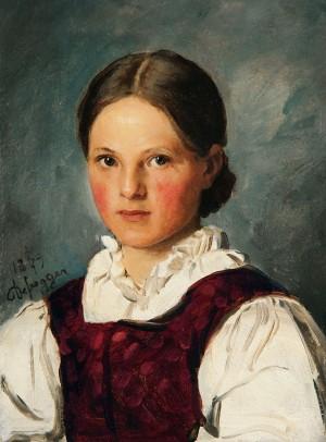 Bauernmädchen ⋅ 1879 Image