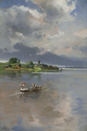 Lustfahrt auf dem Chiemsee ⋅ um 1895 Image