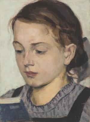 Brigitta, lesend ⋅ um 1930 Image