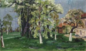 Blühender Obstgarten ⋅ um 1940 Image
