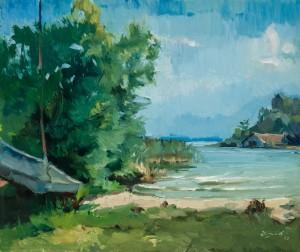 Bucht in Urfahrn am Chiemsee ⋅ 1968 Image