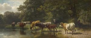 Kühe an der Tränke ⋅ um 1875 Image