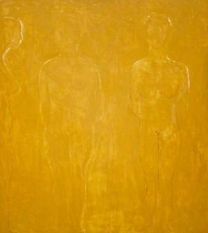 Drei Gestalten in Ocker ⋅ um 1987 Image