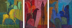 Reiter (Triptychon) ⋅ um 1958/60 Image