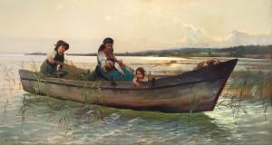 Kahnfart am Chiemsee ⋅ 1883 Image