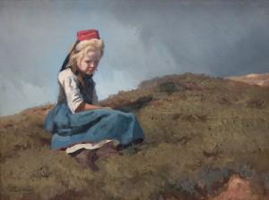 Sitzendes Mädchen ⋅ um 1870 Image