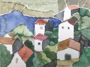 Häuser in Milna, Insel Hvar, Kroatien ⋅ 1996 Image