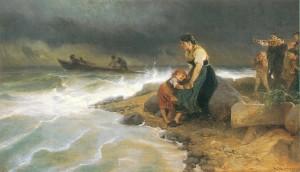 Im Kampf mit Wind und Wellen ⋅ um 1900 Image