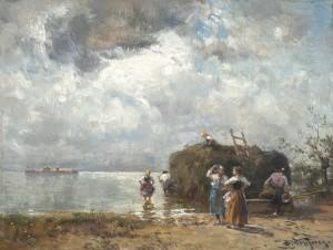 Heuschiff am Chiemsee ⋅ um 1915 Image