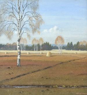 Birken mit Heumanderl bei Prien ⋅ um 1915 Image