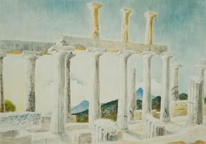 Griechenland - Aphaiatempel auf Ägina ⋅ nach 1950 Image
