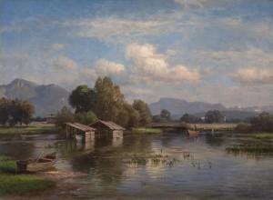 Der Chiemsee bei Feldwies ⋅ um 1870 Image