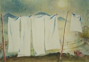 Große Wäsche am Chiemsee ⋅ um 1950 Image