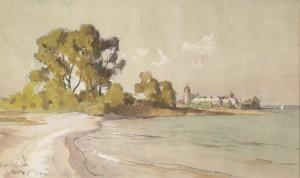 Blick von der Krautinsel zur Fraueninsel ⋅ 1913 Image