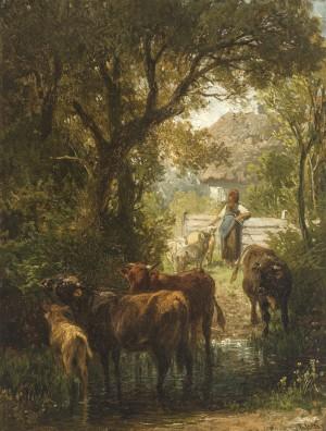 An der Tränke ⋅ um 1885 Image