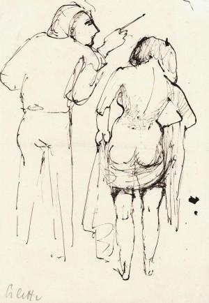 Maler mit Modell ⋅ um 1950 Image