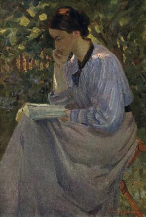 Lesende Frau (Dachau) ⋅ 1906 Image