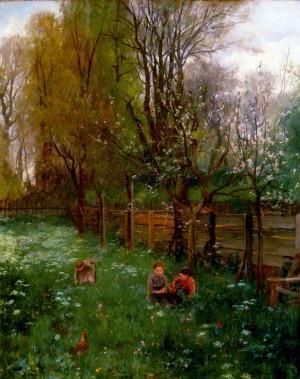 Obstbaumgarten im Frühling ⋅ um 1887 Image