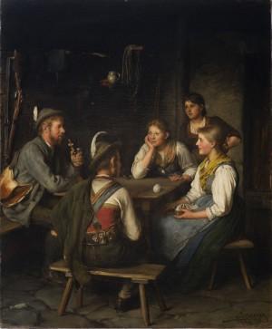 Unterhaltung am Tisch mit Jäger ⋅ 1894 Image