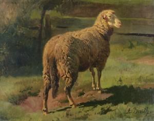 Schaf im Sonnenlicht ⋅ um 1880 Image