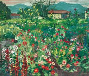 Garten am Abend (Feldwies) ⋅ um 1940 Image